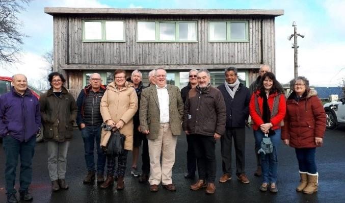 Solva CLT visit Tŷ Solar