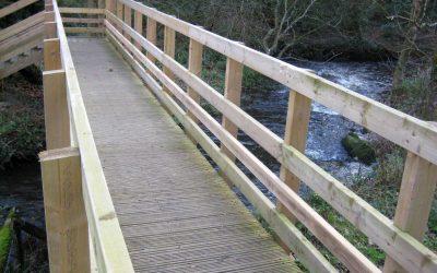 The new bridge over the River Solfach