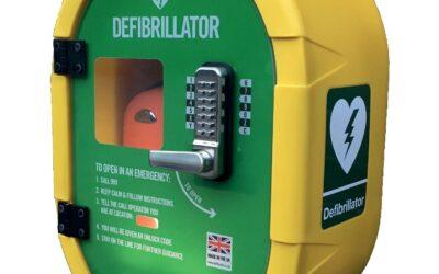 Defibrillator at Llanungar Caravan Park